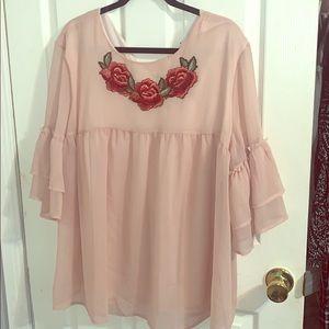 Plus size blush colored blouse ...never worn!